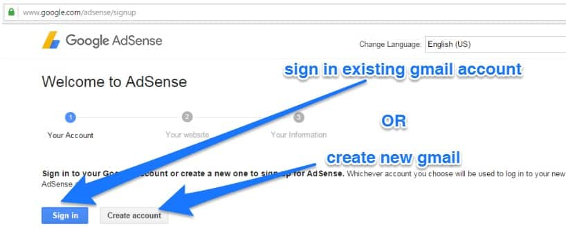 How To Apply For Google Adsense-1st step