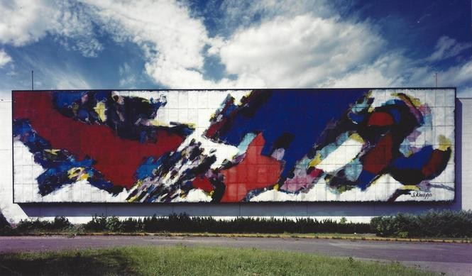 paramus alexander s mural comes out of