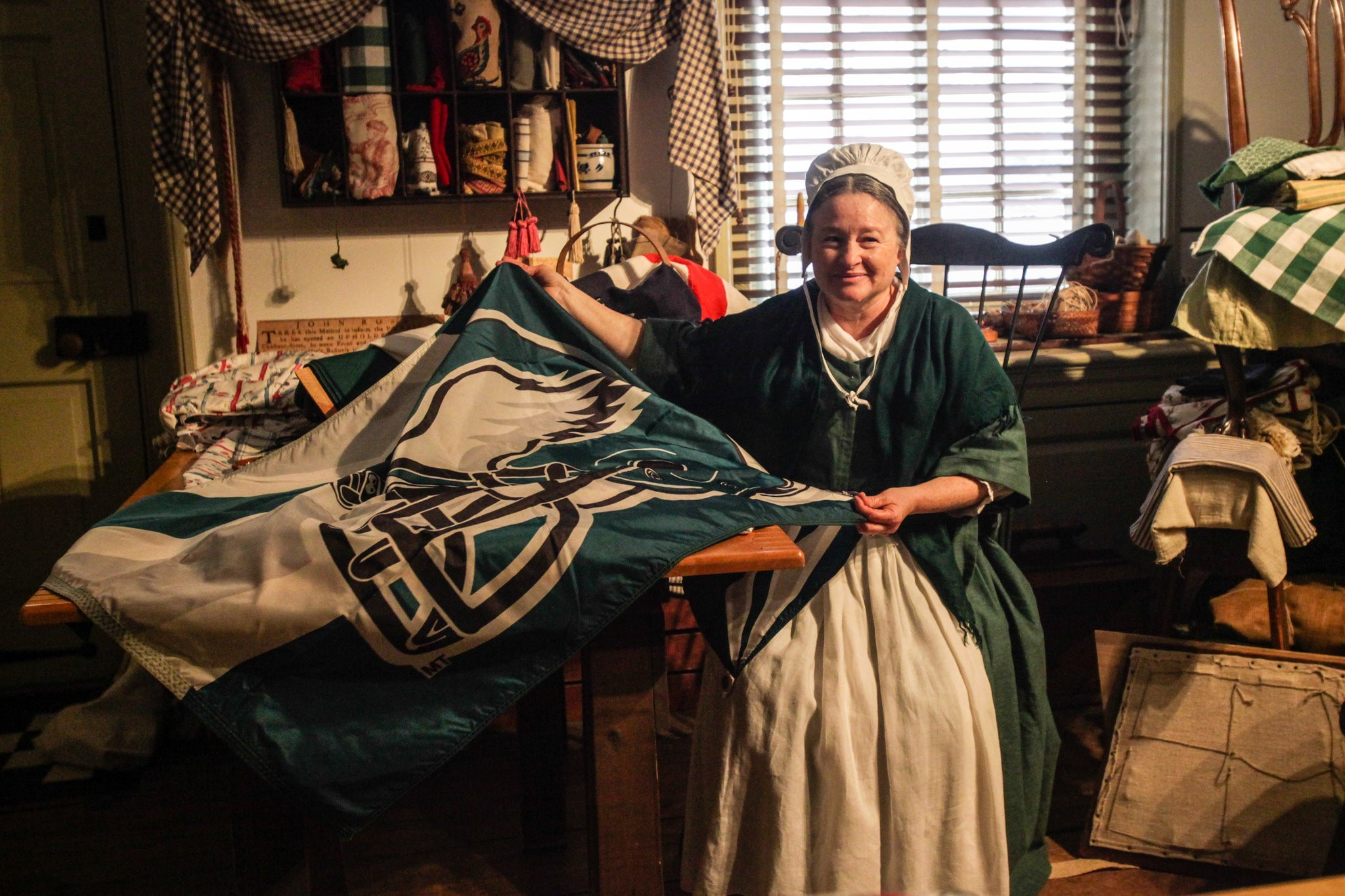 Betsy Ross Raises An Eagles Flag And Issues A Super Bowl Challenge To Patriot Paul Revere Pennlive Com