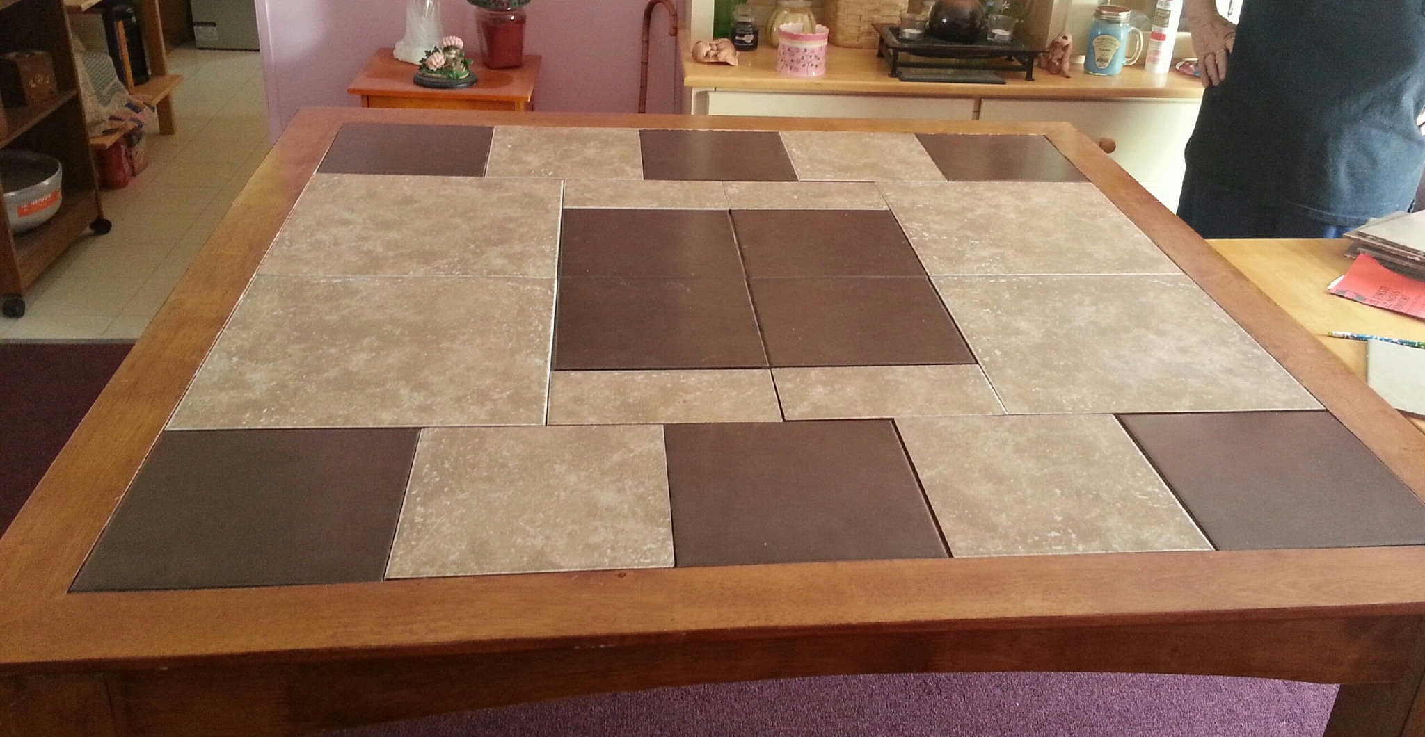 ceramic tile and wood play well
