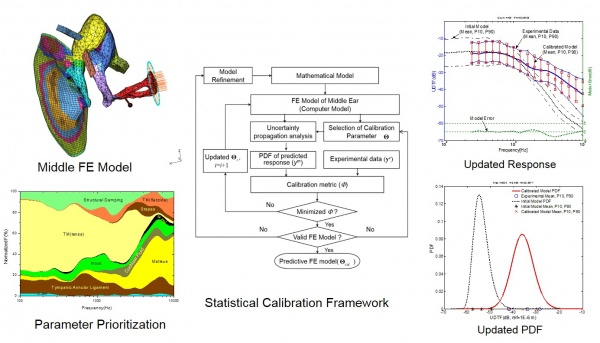 Statistical calibration finite element model human middle ear - advances in engineering