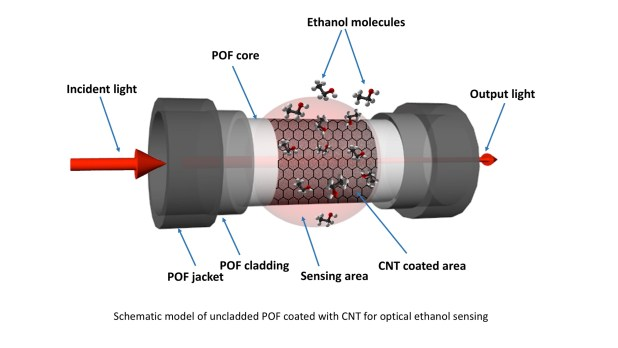 Modified plastic optical fiber with CNT and graphene oxide nanostructured coatings for ethanol liquid sensing- Advances in Engineering