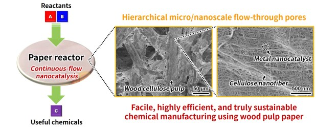 Renewable Wood Pulp Paper Reactor with Hierarchical MicroNanopores for Continuous-Flow Nanocatalysis. Advances in Engineering