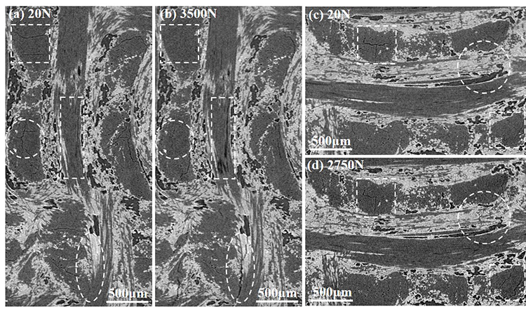In situ observation of compression damage in a 3D needled-punched carbon fiber-silicon carbide ceramic matrix composite - Advances in Engineering
