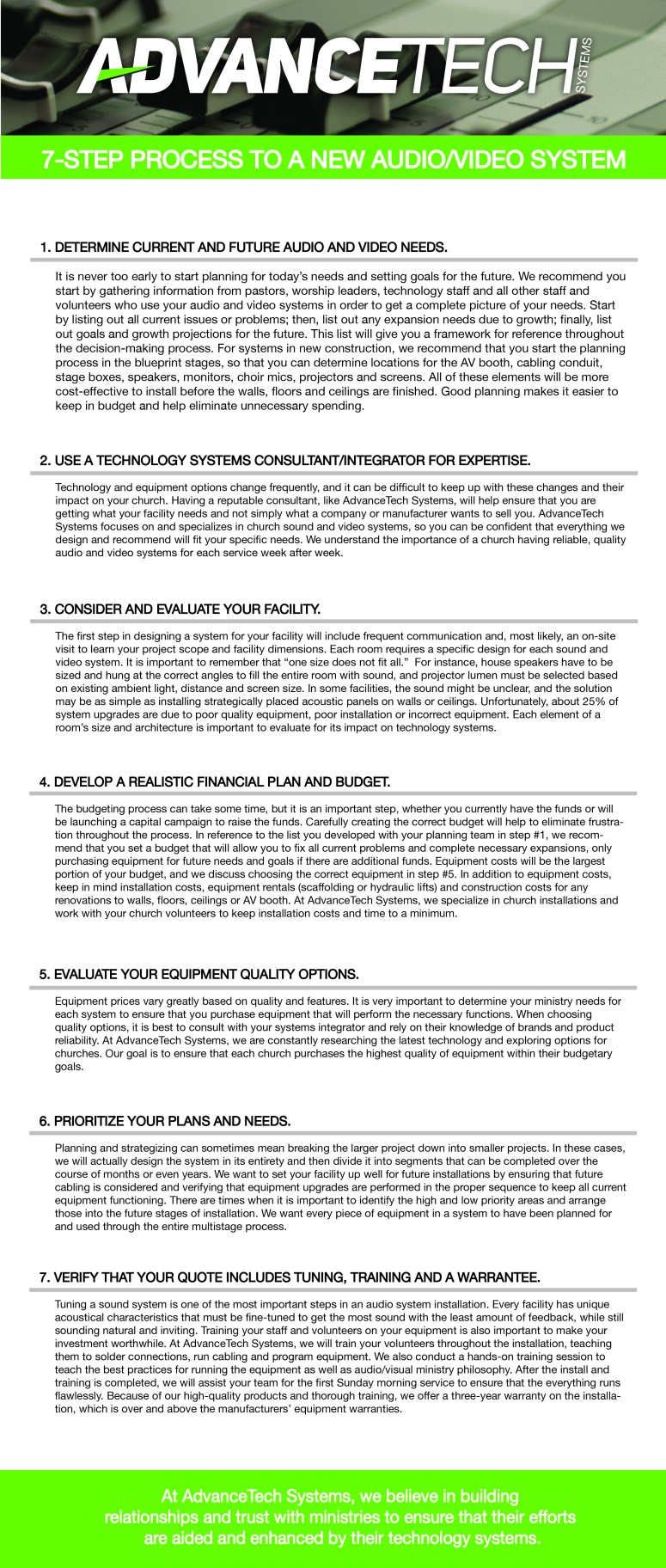 7 Step Process for a New Audio & Video System_Designed 2-01