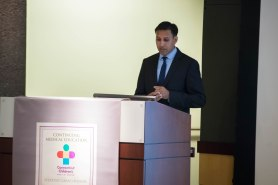 Arvin Garg, MD, MPH, presenting lecture.