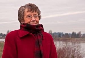 Senior Citizen Lady Portrait Cold Outdoors