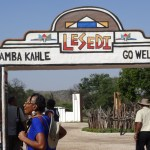Learning about different tribes at Lesedi Cultural Village
