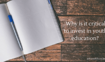 Why is it critical to invest in youth education?