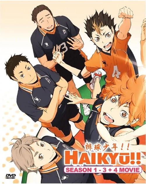 Haikyusea1-3+4movie DVD