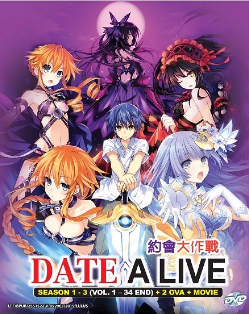 *ENG DUB* DATE A LIVE SEASON 1-3 (VOL.1-34 END) + 2 OVA + MOVIE DVD