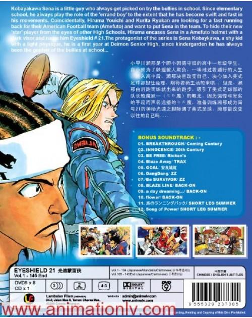 EYESHIELD 21 (TV 1 - 145 END) DVD