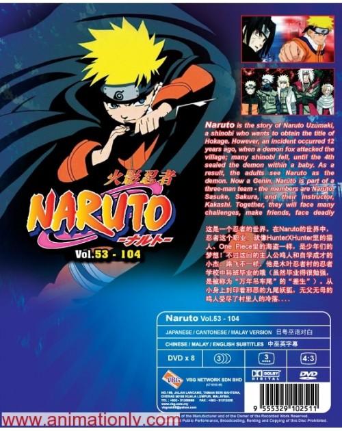NARUTO (TV 53 - 104) BOX 2 DVD