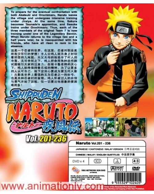 NARUTO (TV 201 - 236) BOX 5 DVD