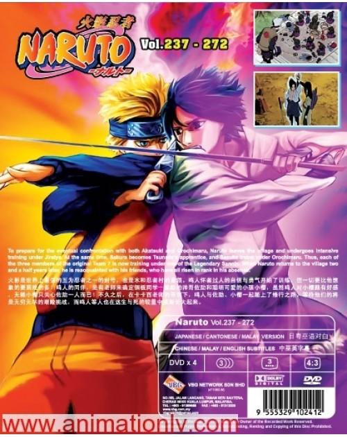 NARUTO (TV 237 - 272) BOX 6 DVD