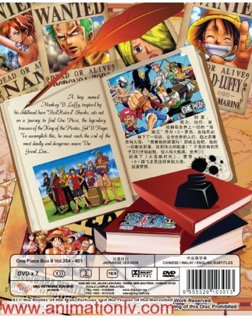 ONE PIECE BOX 8 (TV 354 - 401) DVD