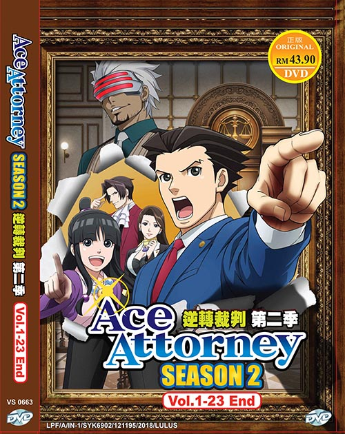 ACE ATTORNEY SEASON 2 VOL.1-23 END *ENG DUB*