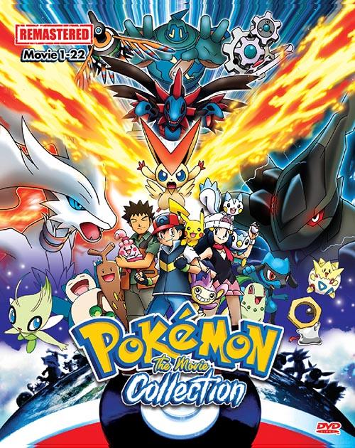 Pokemon Movie 1-22 Remasted DVD
