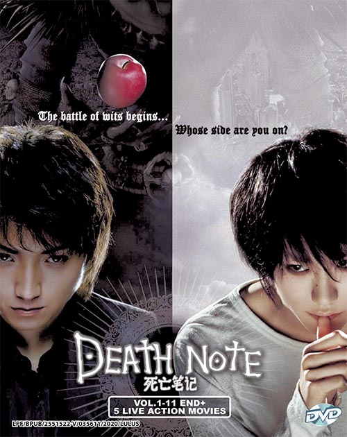 Death Note Vol.1-11 End+5 Live Action Movies