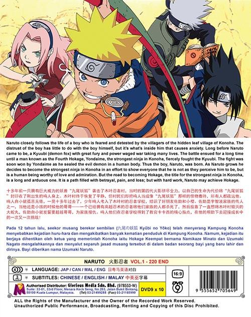 Naruto Vol.1-220 End DVD