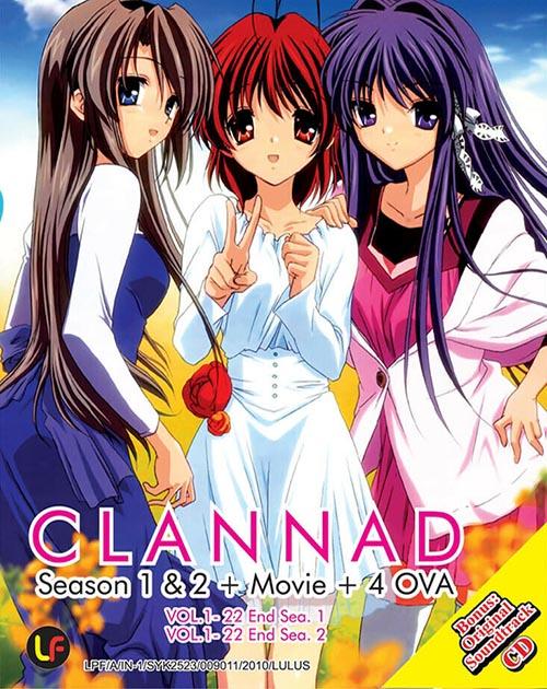 Clannad Season 1 & 2 + Movie + 4 Ova