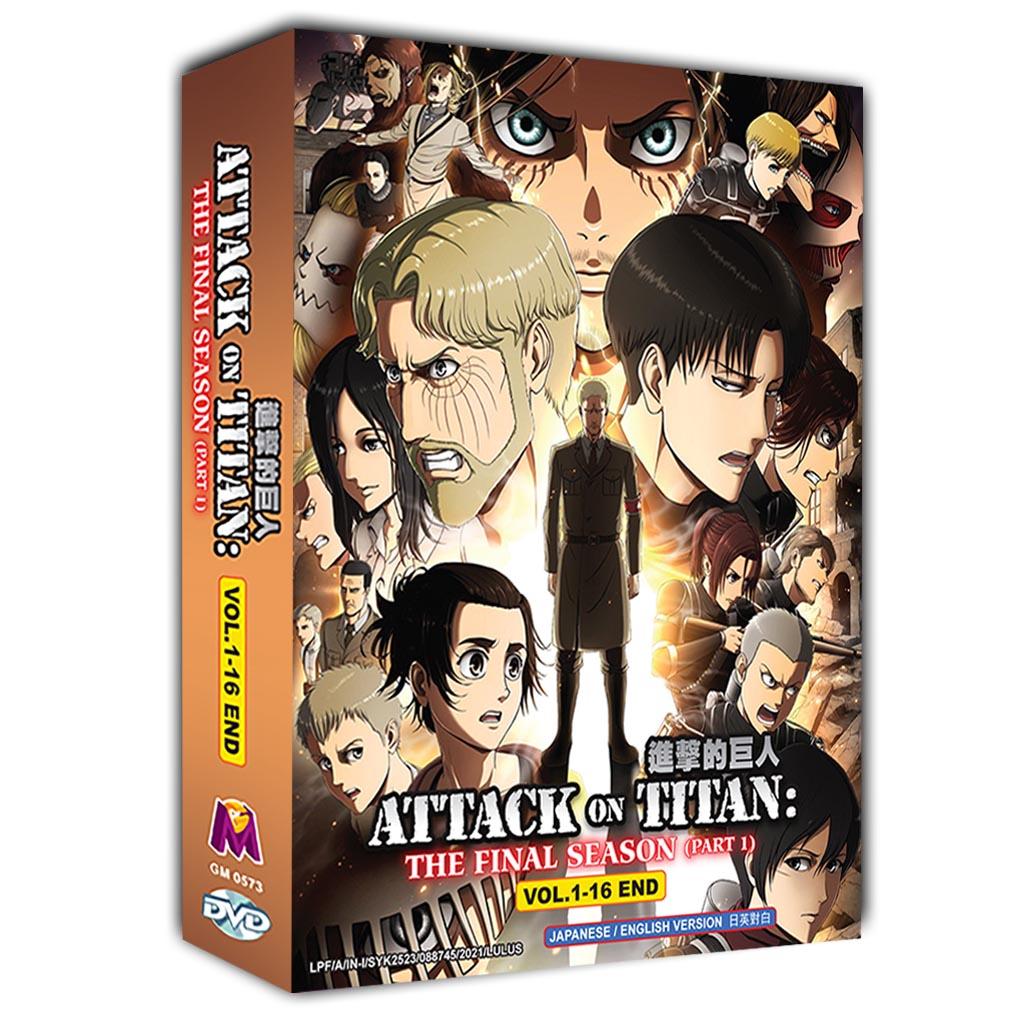 Attack on Titan The Final Season (Part 1) Vol.1-16 End DVD