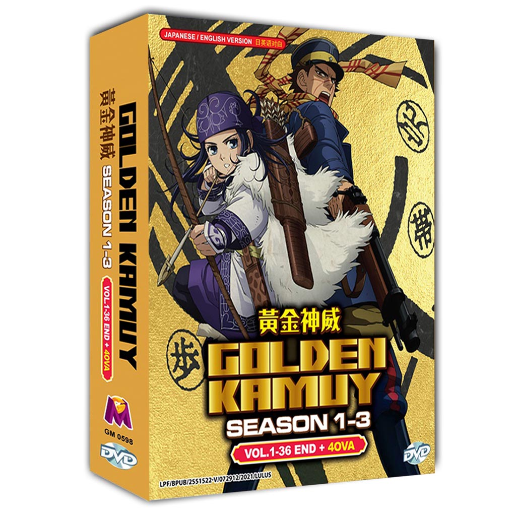 Golden Kamuy Sea 1-3 Vol.1-36 End - 4 Ova DVD
