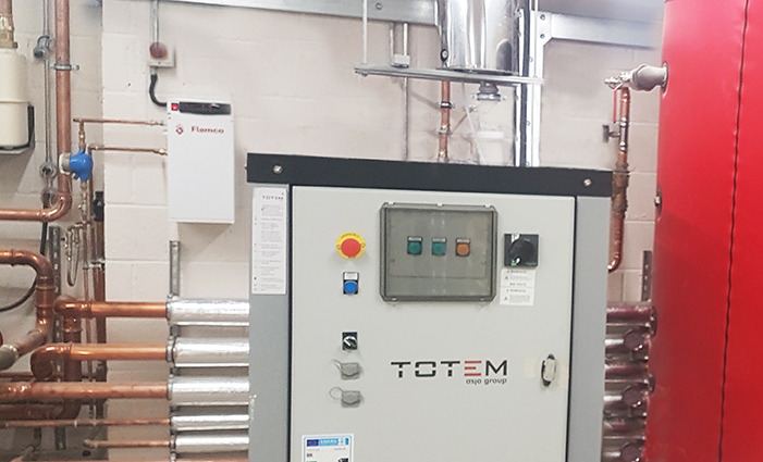 TOTEM T20 CHP unit (Combined Heat and Power unti) in a residential care home.