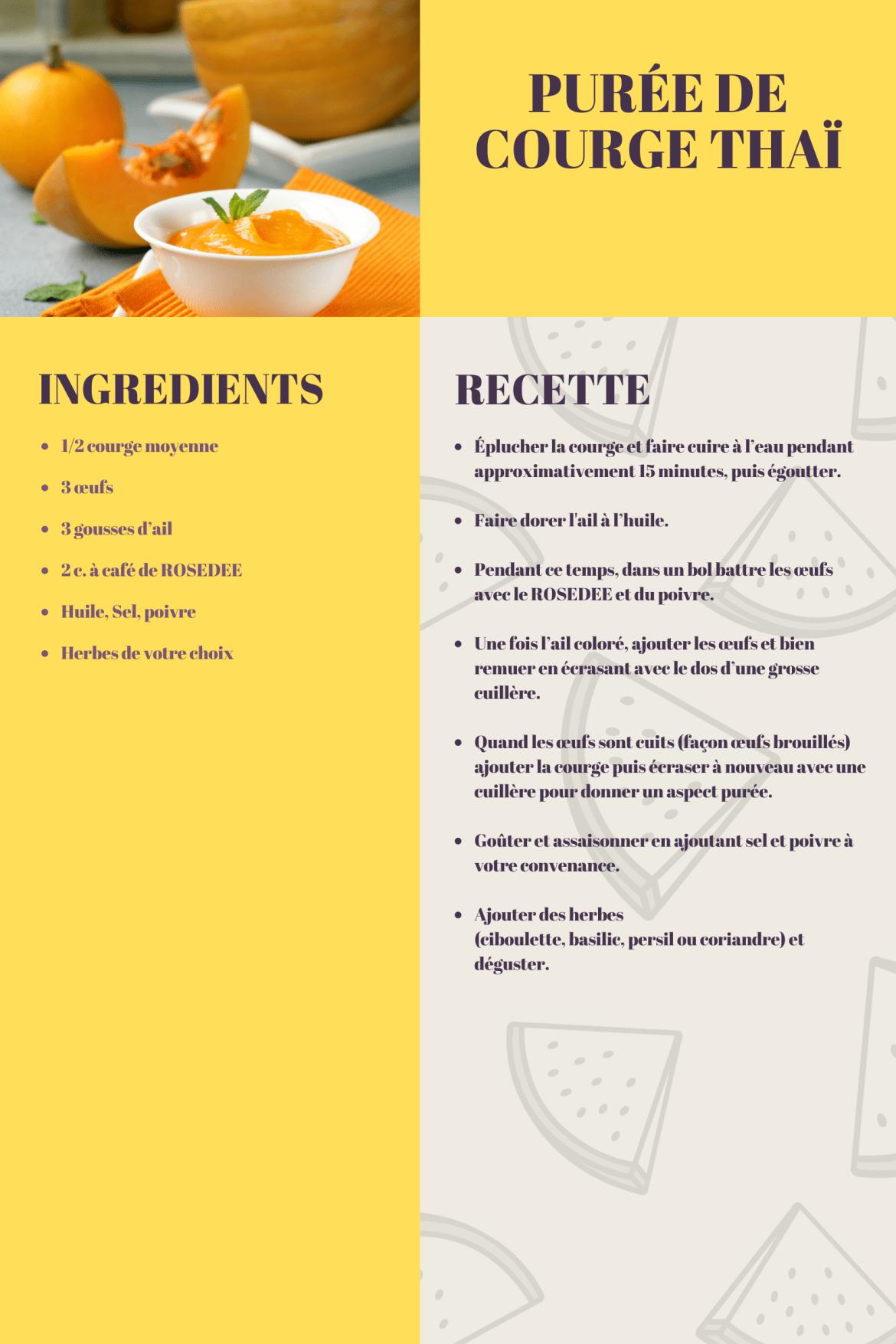 recette purée de courge