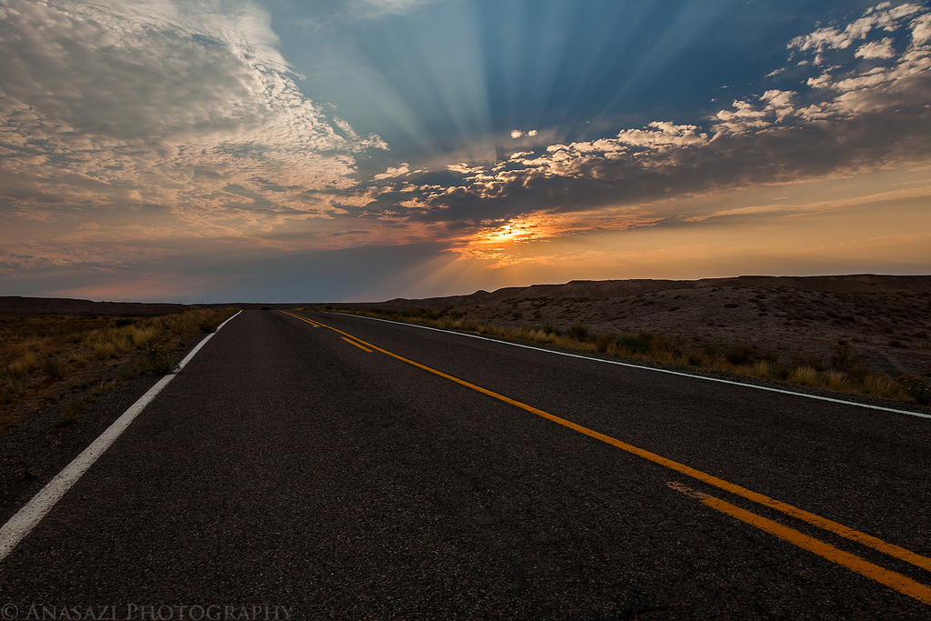 Old Highway Sunset