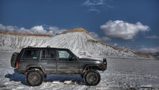 Snow on Mount Garfield