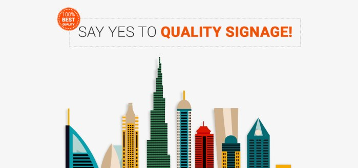 Why Quality Signage from a Top Sign Maker in Dubai Adds Credibility
