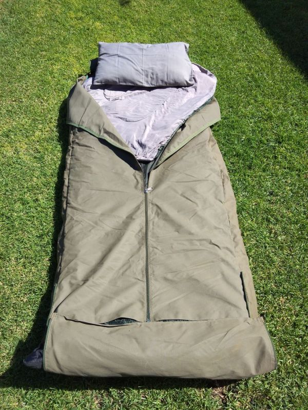 Bedroll with sleeping bag and pillow