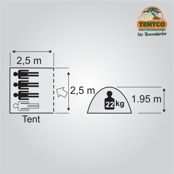 Plan Tentco Junior Wanderer bow tent