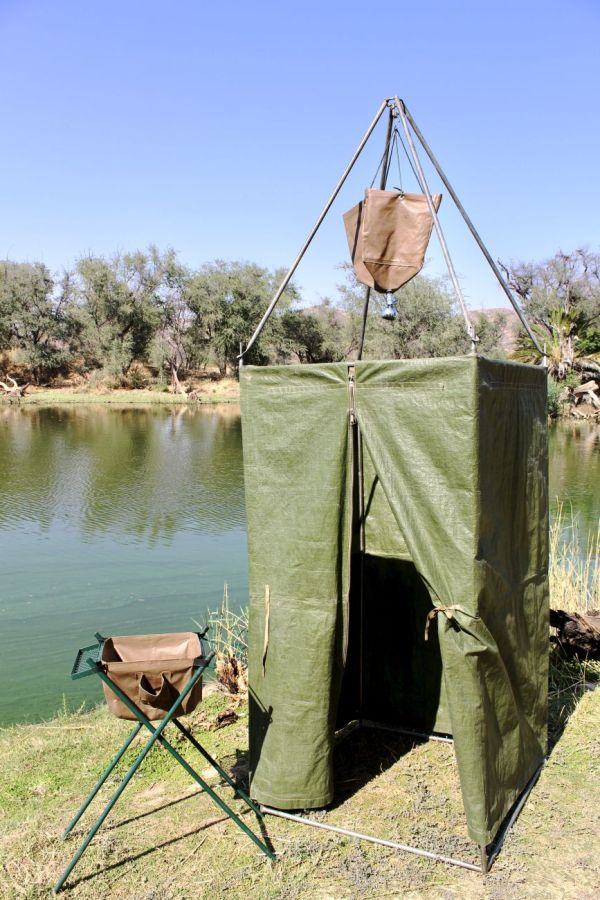 Tent with shower unit