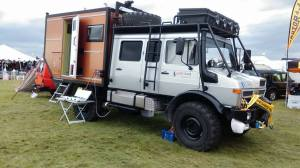 Gekkotruck's very own Unimog camper. Photo: Karl Baker