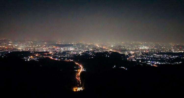 Adventure Pulse Katraj to sinhagad night trek City Light View