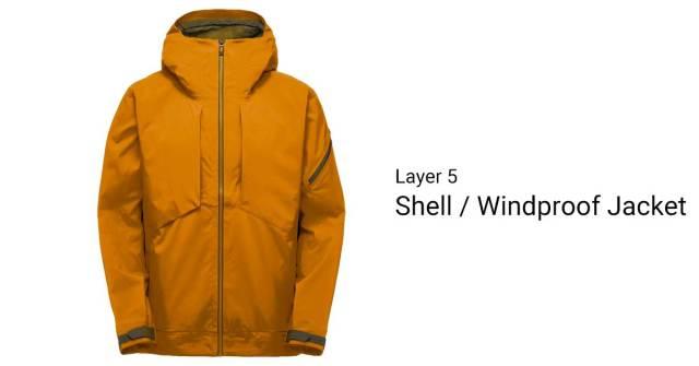 A Orange Shell or Windproof Jacket