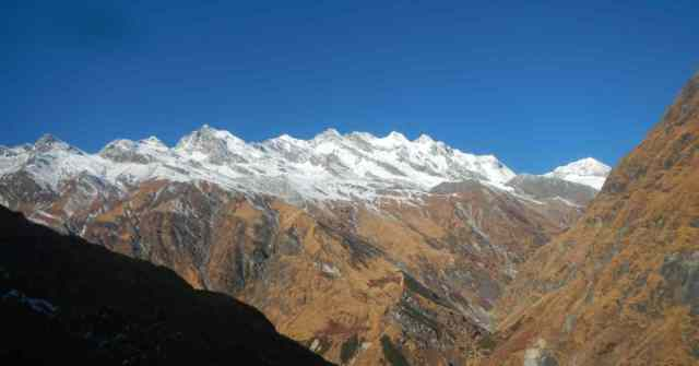 Tharkot and nearby mountains in Kumaon