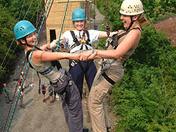 adventure activities, wales, high level ropes course