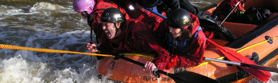 team away & incentive days, white water rafting wales