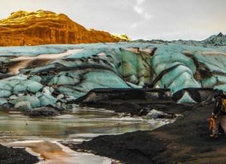 Hiking on Sólheimajökull Glacier. Photo by Gina Kremer
