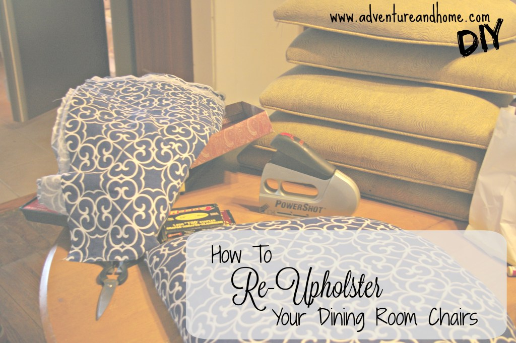 Learn to re-upholster your dining room chair seats with this easy DIY! Pin to read now or later!