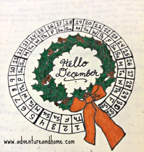 Bring the Holidays into your bullet journal with this circular calendar!