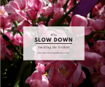 Smelling the Orchids: Why it's so important to slow down