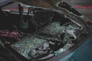 broken car windshield