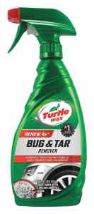 Spray bottle of bug and tar remover
