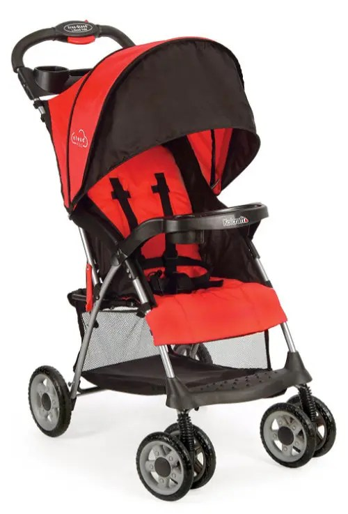 Kolcraft Cloud Plus Lightweight Stroller with 5-Point Safety System and Multi-Positon