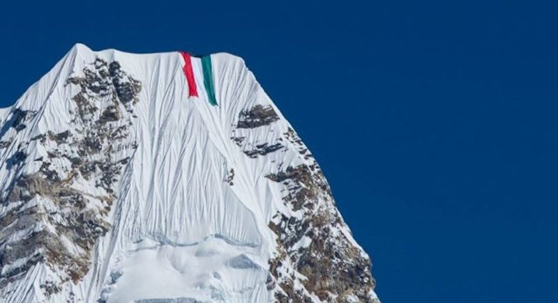 Nims Purja in More Hot Water Over Giant Flag on Ama Dablam