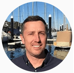 Campbell Wills, Co-owner of The Adventure Boat Company. Based in The Spit, Mosman.